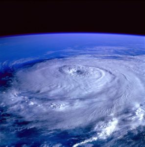 A hurricane from space.