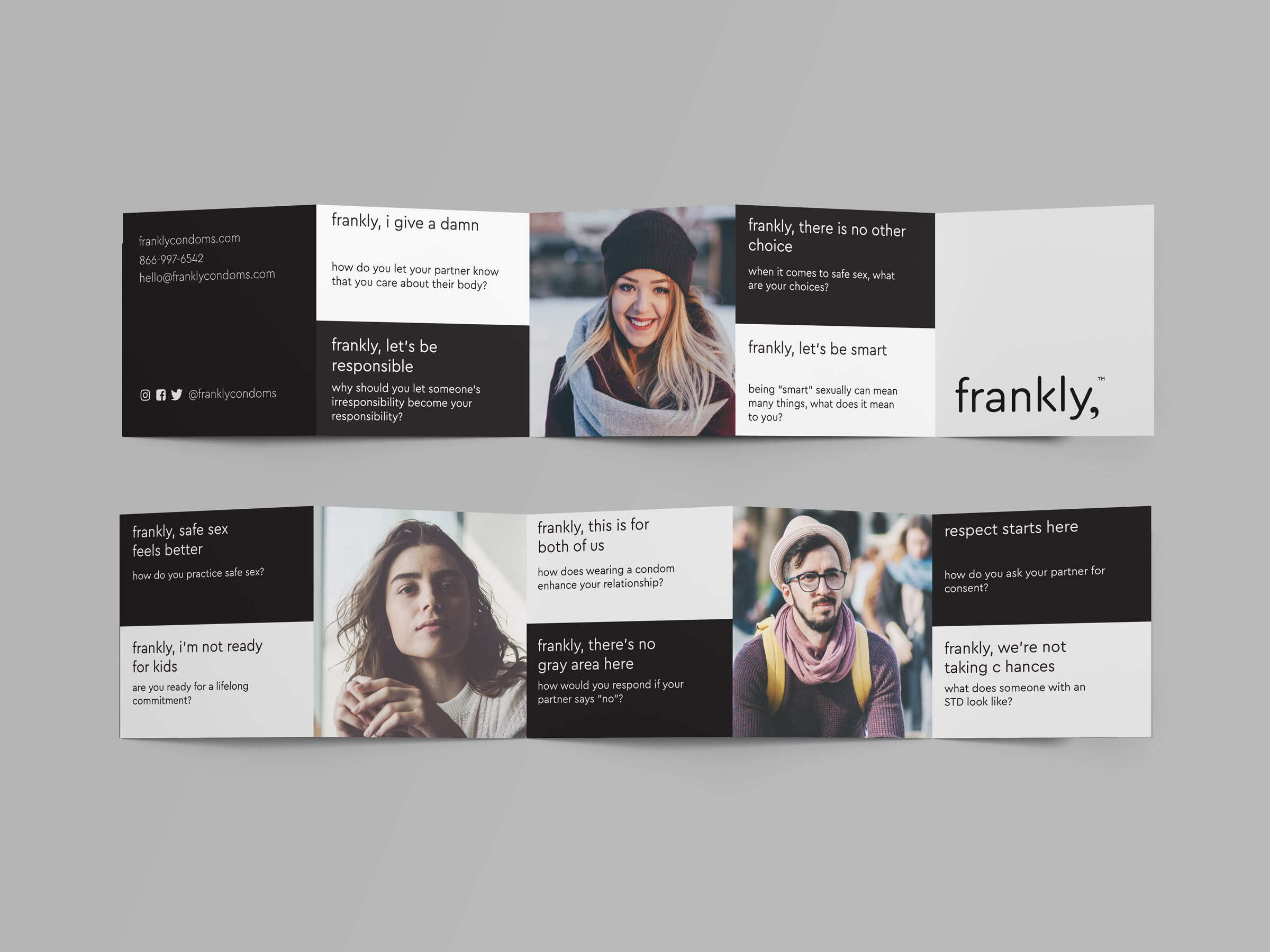 frankly, accordion brochure