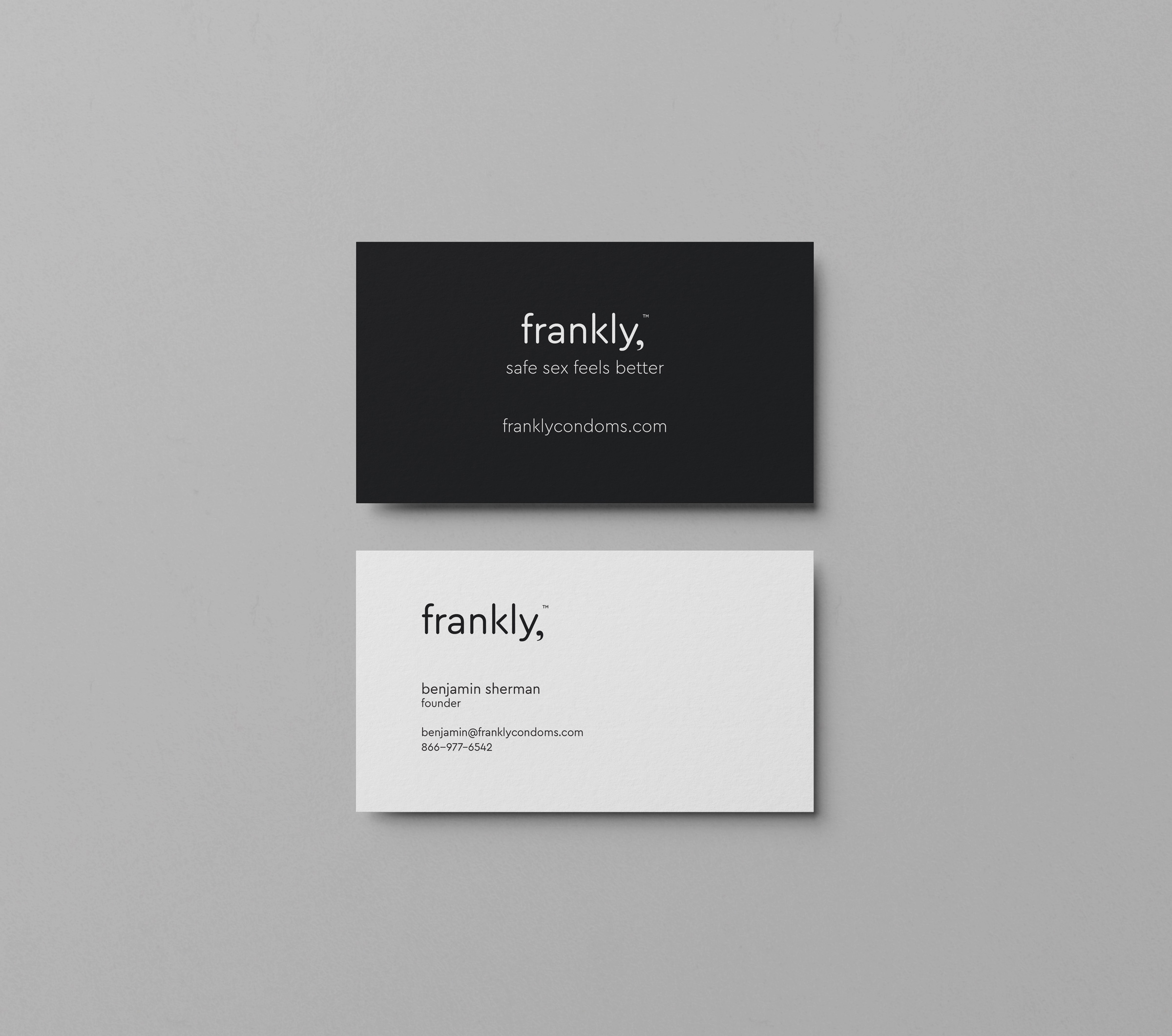 frankly, business cards