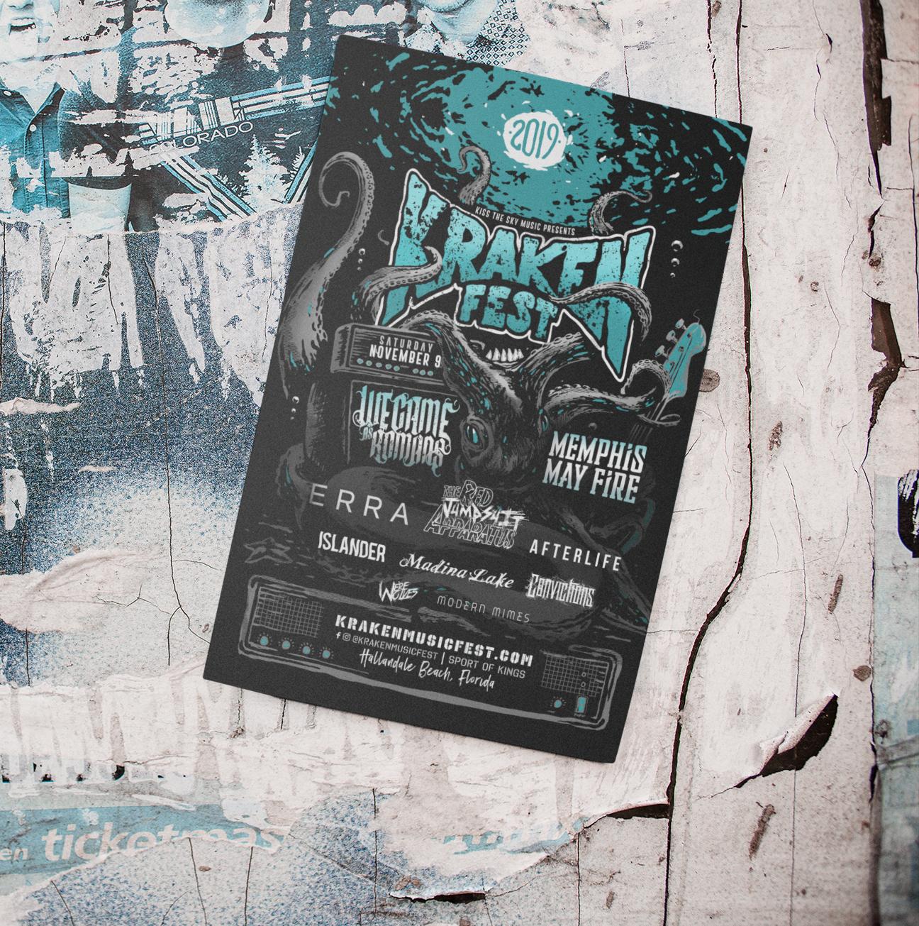 Krakenfest poster on wall