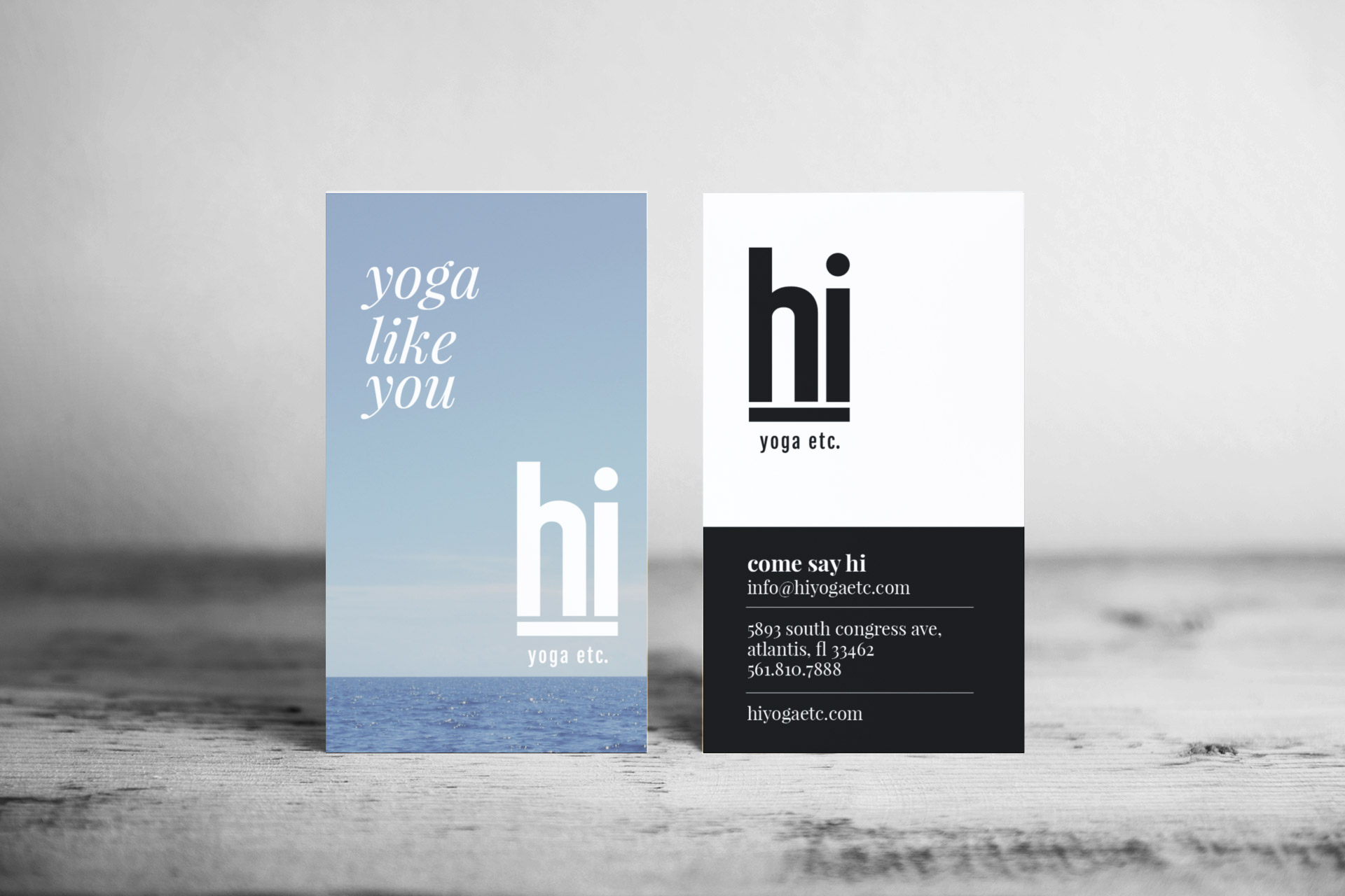 hi yoga business cards