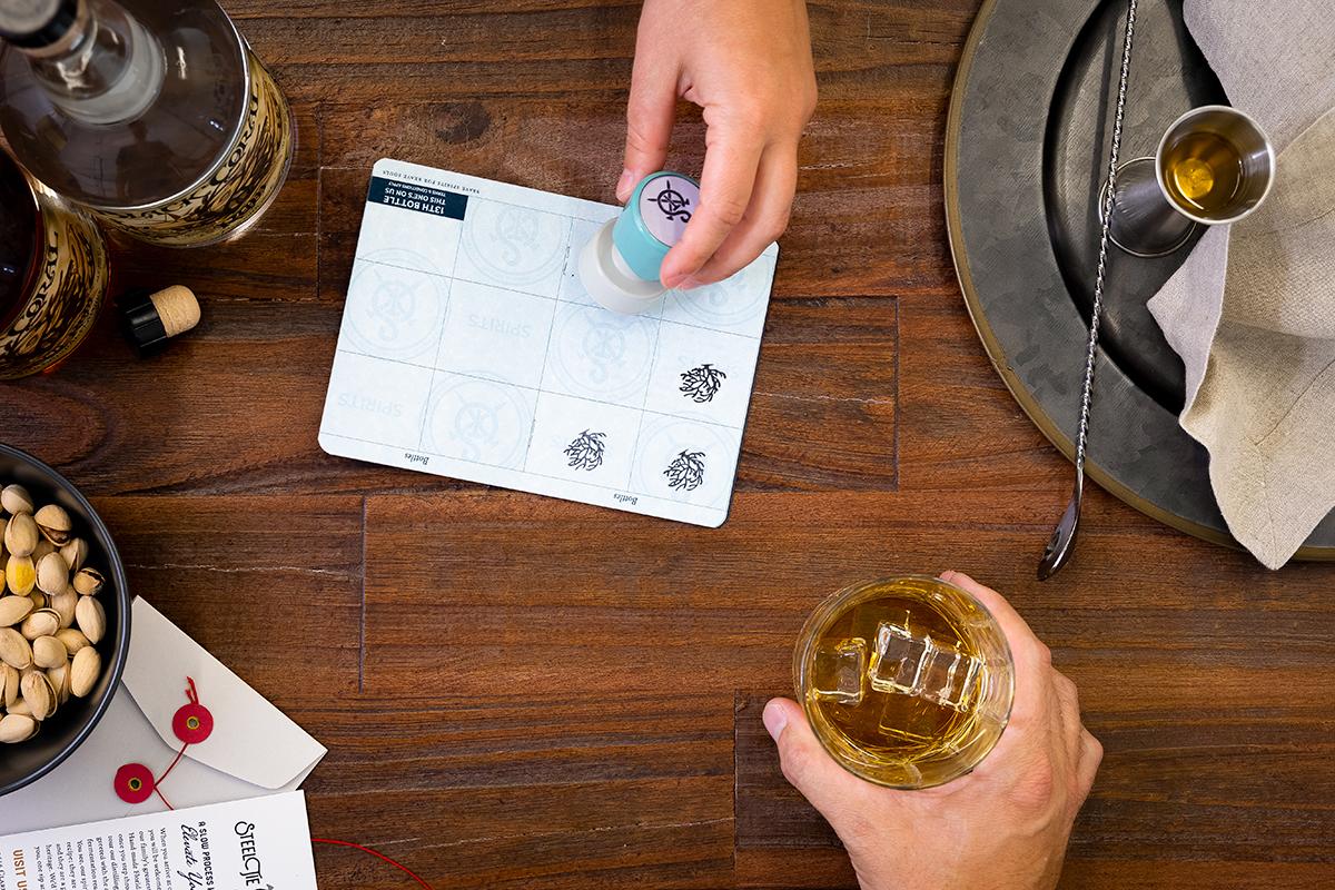 Passport getting stamped
